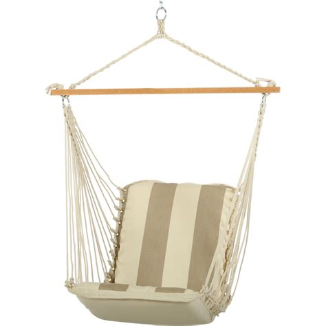 Single Cushioned Swing Regency Sand Srd02 Hatteras
