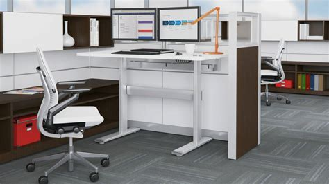 steelcase adjustable desk series 5 series height adjustable office benches tables