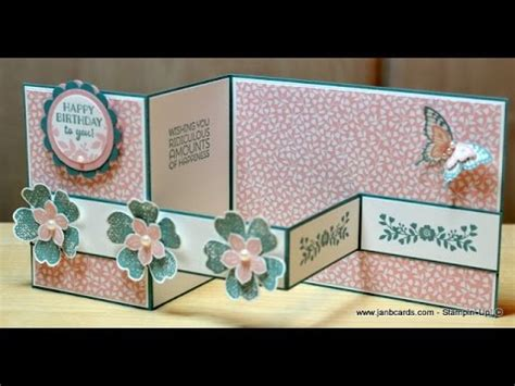 zfold pop up card template no 158 z card janb uk stin up demonstrator