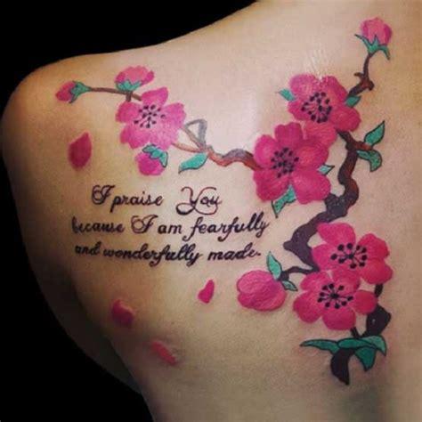 40 Beautiful Cherry Blossom Tattoos Nenuno Creative Cherry Blossom Branch Meaning