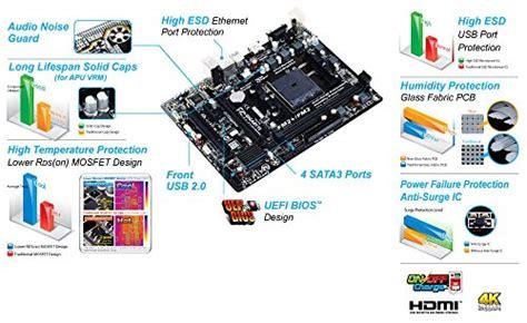 Gigabyte Ga F2a68hm H Amd A68h Fm2 Ddr3 Micro Atx Motherboard gigabyte amd fm2 a68h sata 6gb s usb 3 0 matx atx ddr3