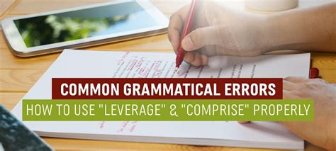 How To Leverage Mba by Common Grammatical Errors How To Use Quot Leverage