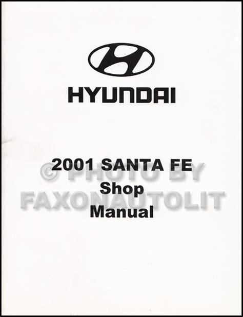 old car repair manuals 2001 hyundai santa fe lane departure warning 2001 hyundai santa fe electrical troubleshooting manual original