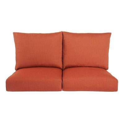 loveseat cushion outdoor sofa loveseat cushions outdoor cushions the home depot