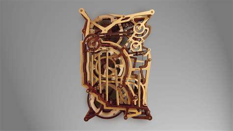 kinestrata  mechanical wooden marble machine youtube