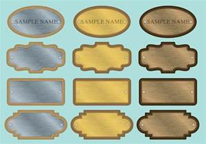Home Decor Names by Name Plate Vectors Download Free Vector Art Stock