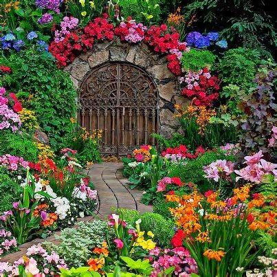 my flower garden beautiful gate in garden and oh my what a garden