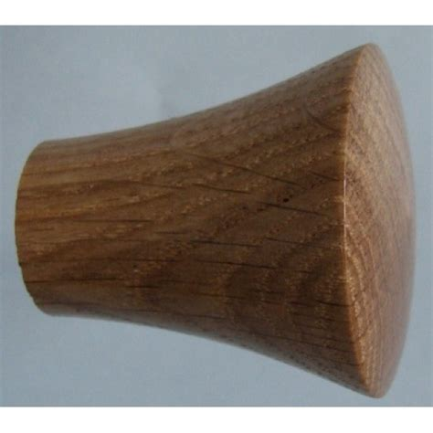 Oak Knobs by Knob Style P 40mm Oak Lacquered Wooden Knob