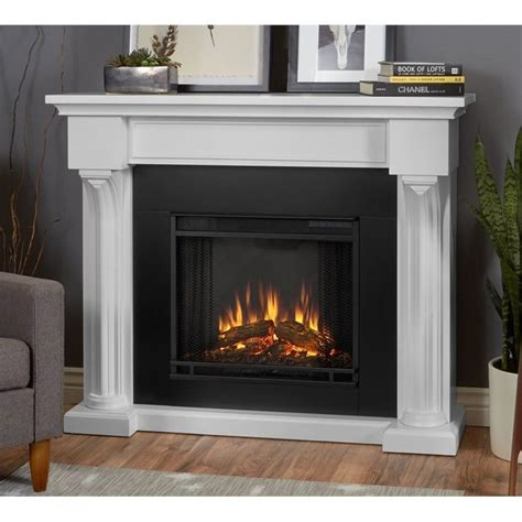 real verona indoor electric fireplace in white 5420e w