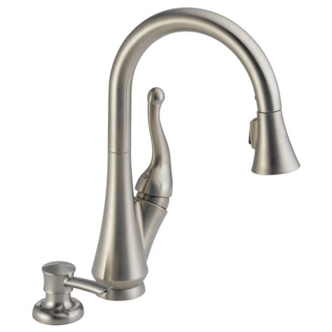 delta faucet 980t sssd dst parts list and diagram in kitchen single handle pull down kitchen faucet with soap dispenser