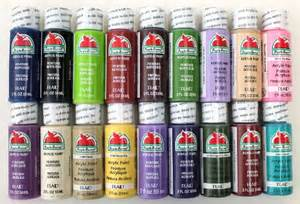 apple barrel paint colors apple barrel acrylic paint set 18 2 ounce
