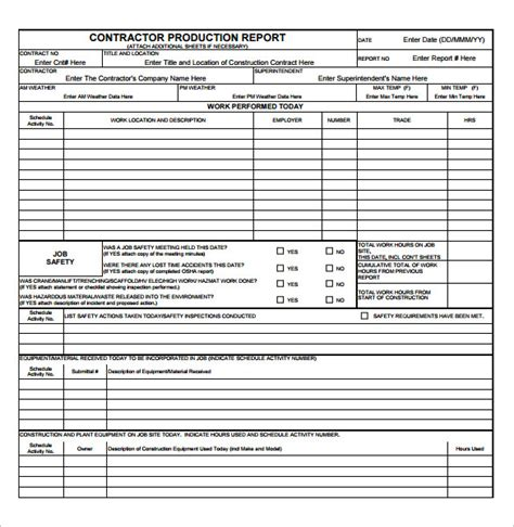 qc report template sle production report template 13 free documents in pdf