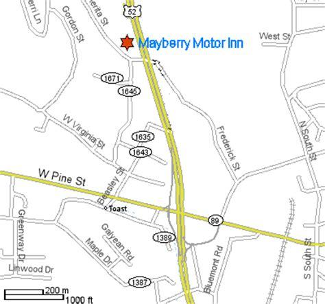 map of mayberry carolina mayberry motor inn mount airy carolina directions