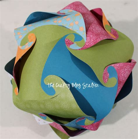 Make A Paper Sphere - how to make a paper sphere the crafty stalker