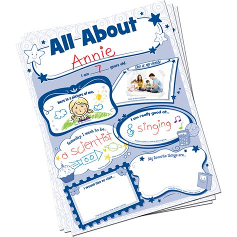 all about all about me poster pack tcr5222 created resources