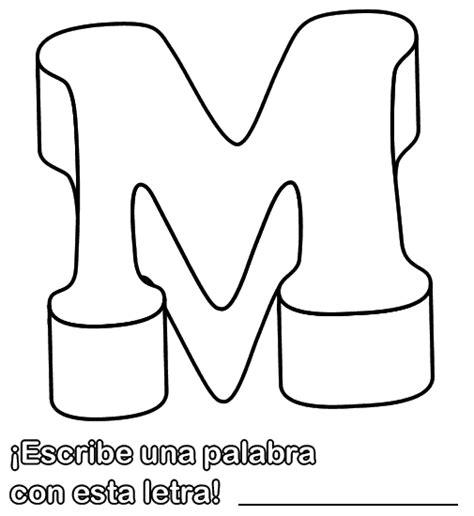 imagenes infantiles con la letra m colorear dibujo de la letra m