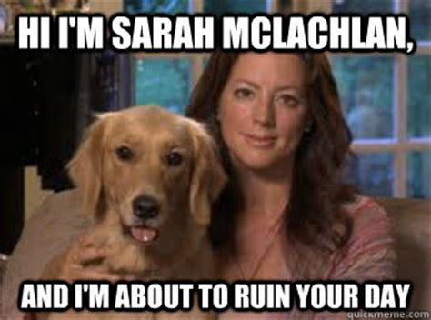 Aspca Meme - cele bitchy sarah mclachlan can t watch her aspca ads