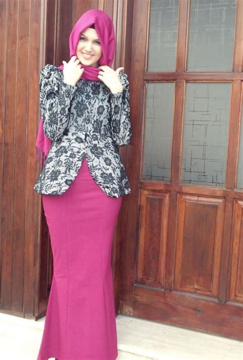 Baju Pesta Wanita Muslim 20 model batik muslim 2018 untuk til modis gambar busana muslim 2018