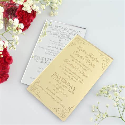 Engraved Wedding Invitations by Engraved Acrylic Wedding Invitation Gift And Mementos For
