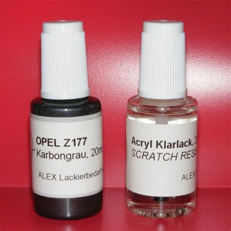 Lackstift Klarlack Polieren by Lackstift Opel Z177 Karbongrau Klarlack 2x20ml Pinselflasche