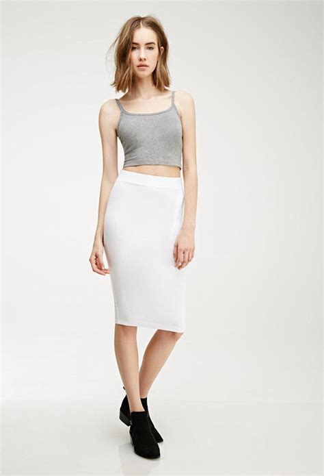 white knit pencil skirt knit pencil skirt dressed up
