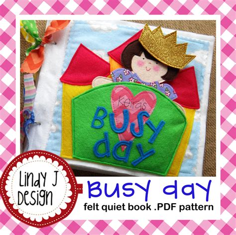 quiet book pattern pdf busy day quiet book felt paper doll pdf pattern