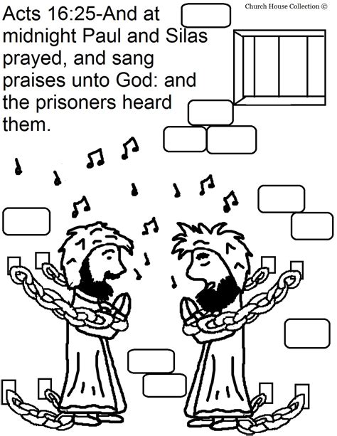 Paul And Silas Coloring Page church house collection paul and silas in