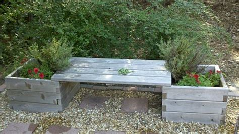 raised garden bed with bench seating ciliberto s woodworking customer gallery