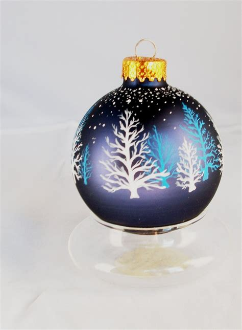 272 best handpainted glass christmas ornaments images on