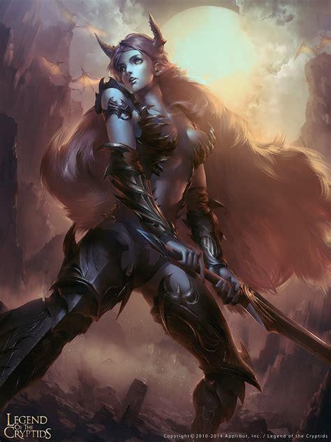 Succubus The Executioner artstation dark elf knight reg justice wong