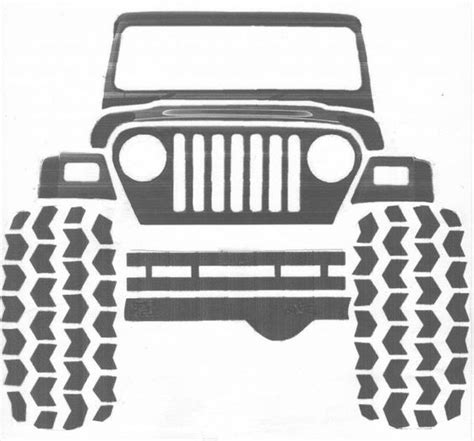 jeep grill drawing jeep clip art google search crafts pinterest clip