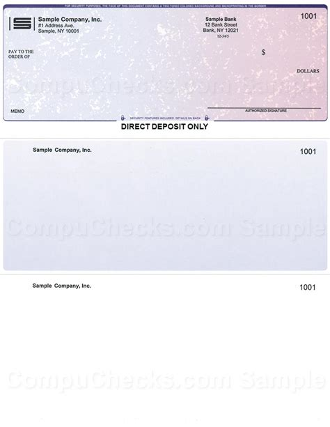 One Background Check Direct Deposit Checks For Quickbooks Users Compuchecks Store