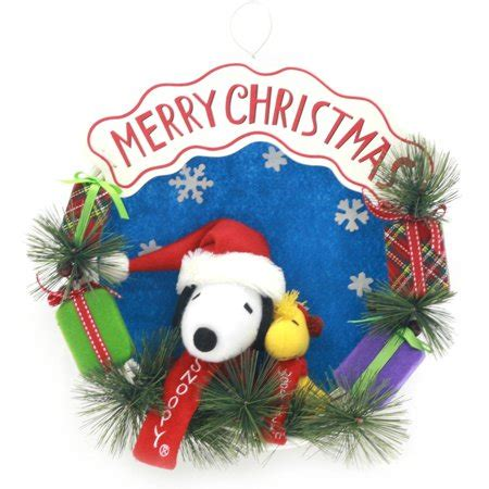 snoopy  friends merry christmas wreath walmartcom