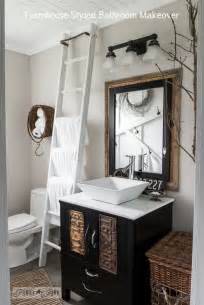 salvaged farmhouse bathroom makeover with vintage
