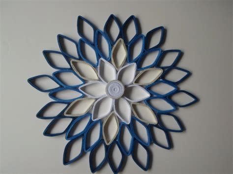 white and blue wall decor navy home decor paper dahlia wall hanging white navy blue