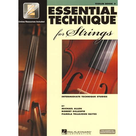 String Books - essential technique violin book 3 hal leonard shar