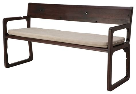 modern benches indoor shen bench dark oak modern indoor benches by inmod