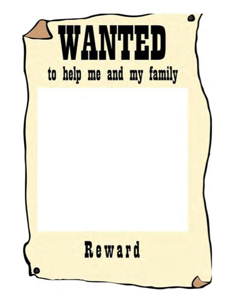 18 Free Wanted Poster Templates Fbi And Old West Free Free Wanted Poster Template