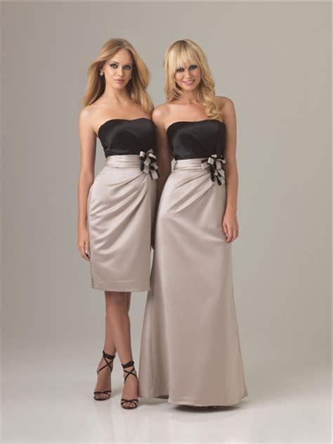 Two Color Dress 40382 sheath column sweetheart two color silk bridesmaid dress