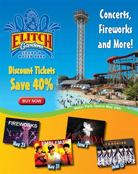 elitch gardens colorado e ticket pacific club