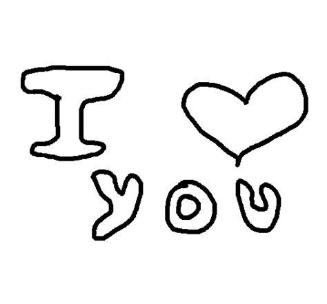 imagenes para dibujar te amo dibujo de te amo 6 para colorear dibujos net