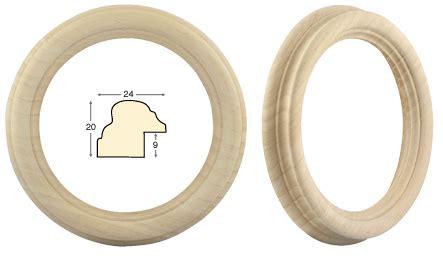cornici tonde cornice tonda in legno grezzo diametro cm 16 rinaldin