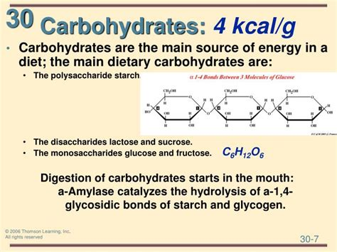 carbohydrates g to kcal ppt general organic and biochemistry 8e powerpoint