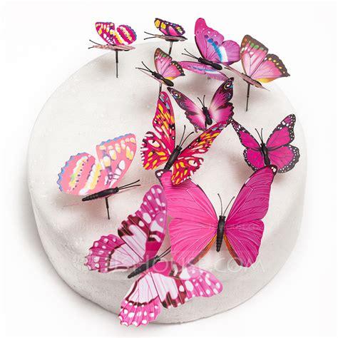 Tortendekoration Hochzeit by Butterfly Pvc Wedding Cake Topper Set Of 12 119072115