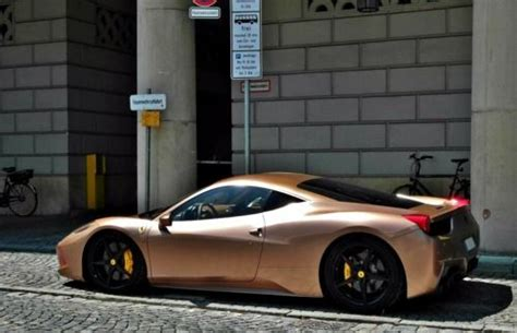 rose gold ferrari ferrari 458 in rose gold beautiful transportation