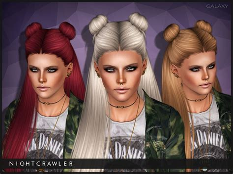 sims 3 cc hair colours nightcrawler sims nightcrawler galaxy