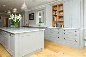 Handmade Kitchen Furniture classic grey and white kitchen bespoke handmade wood