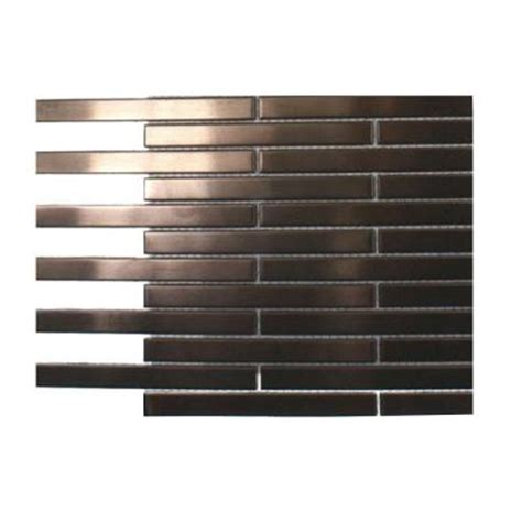 splashback tile metal stainless steel stick brick