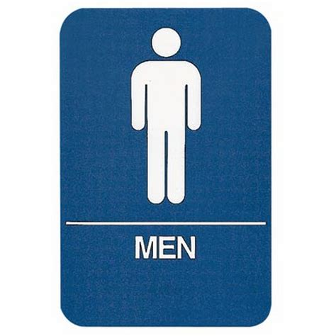 ada bathroom sign sign men restroom ada compliant educator s depot