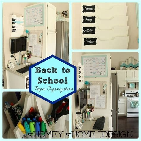 Back To School Desk Organization Back To School Paper Organization Kitchen Desks Paper Walls And Wall Storage